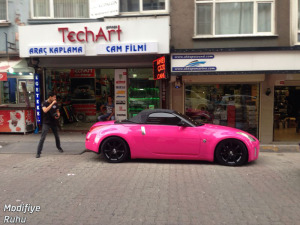 nissan-350z-modified-fairlady-pink-fusya-pembe